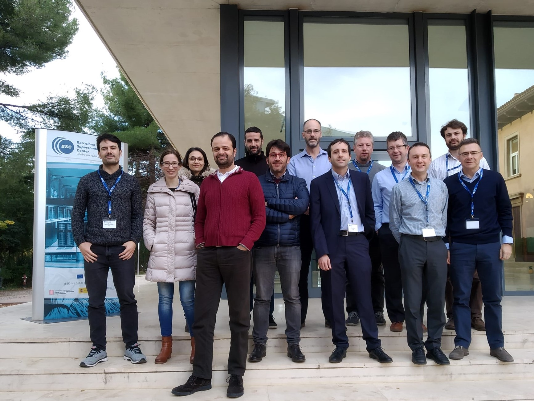 Image: The MASTECS team during the first meeting of the project in Barcelona, Spai